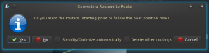 Options for converting your routing to a route.