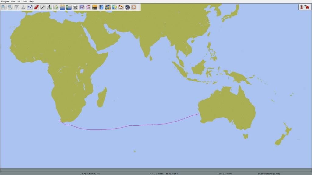 Geraldton-Capetown-pilot-charts-route-March